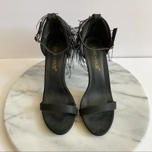 chase + chloe gigi feather heels